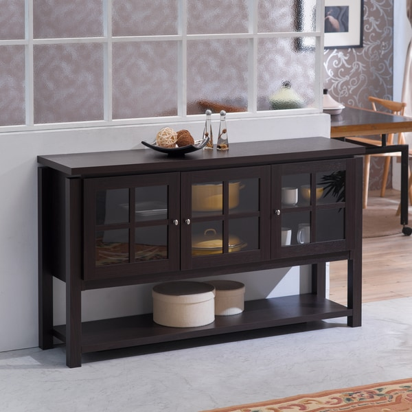 Furniture Of America Wilbur Contemporary Walnut Buffet