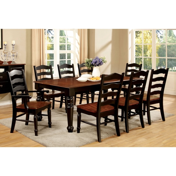 Furniture of America Loretta 9-Piece Country Style 2-Tone Dining Set - Overstock Shopping - Big ...