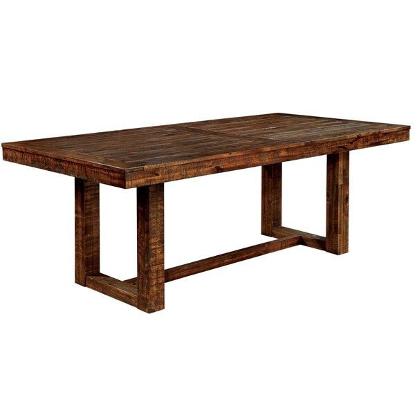 Deals On Dining Tables: Furniture Of America Tobiath Rustic Dark Oak Dining Table