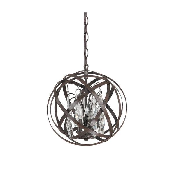 Capital Lighting Axis Collection 3 Light Russet Orb