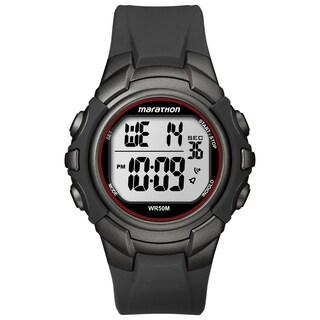 Timex Men's Marathon Digital Full-size Gunmetal Grey/ Red Watch