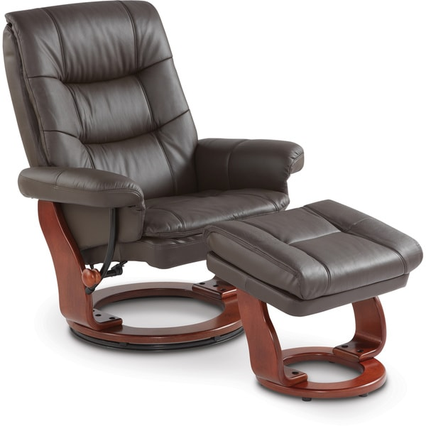 Art Van Leather Chair And Ottoman