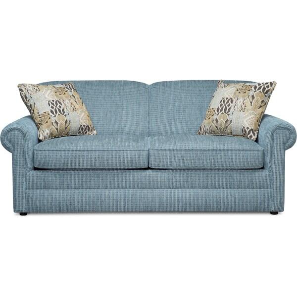 Art Van Kerry Blue 72 Inch Sofa 17101814 Overstock Com