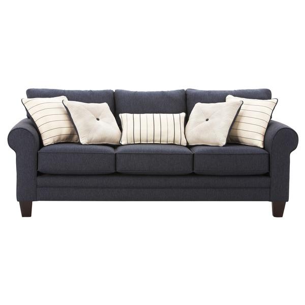 Sleeper Sofa Navy Blue: Art Van Navy Blue Calypso Queen Sleeper Sofa