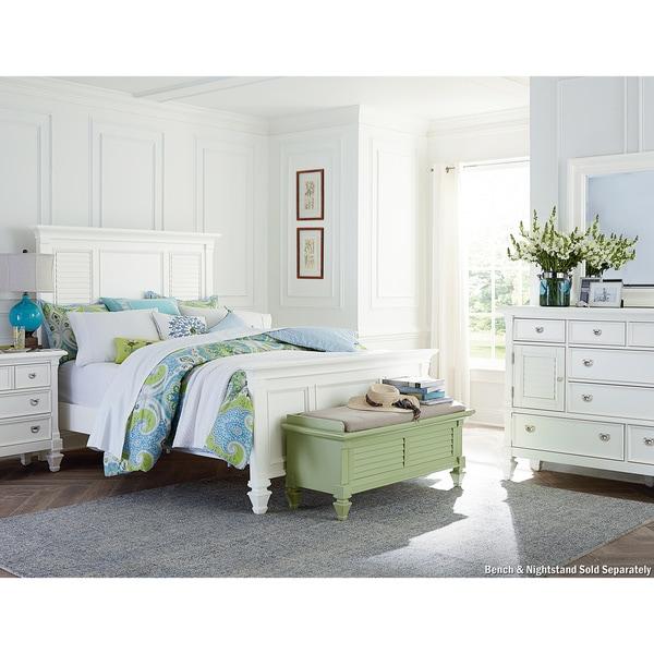 Art Van Breeze White 3-piece Queen Bedroom