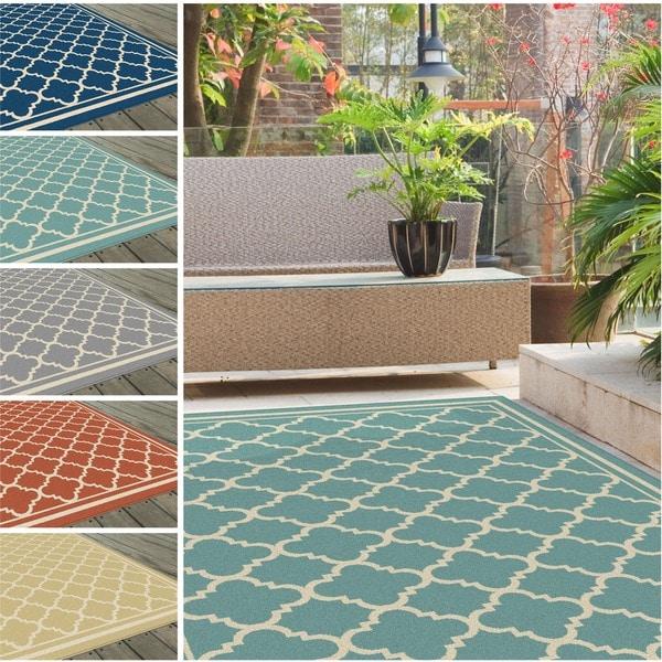 Alise Garden Town Moroccan Tile Area Rug 7 10 X 10 3