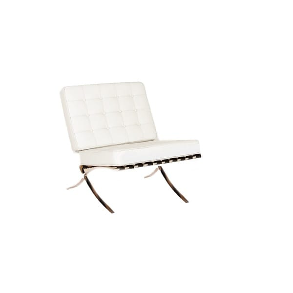 Beldon White Leather Armless Chair 17109142 Overstock