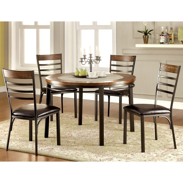 Deals On Dining Tables: Furniture Of America Mennits Industrial Style Round Dining