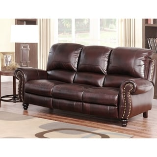 Abbyson Living Richfield Premium Top Grain Leather Sofa