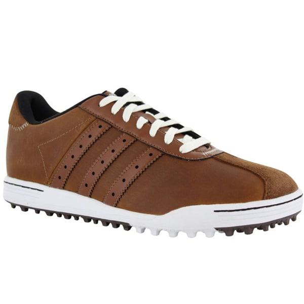 Adidas Men S Adicross Classic Tan Brown Golf Shoes