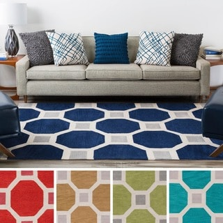 Hand Tufted Geometric Contemporary Area Rug 5 X 8