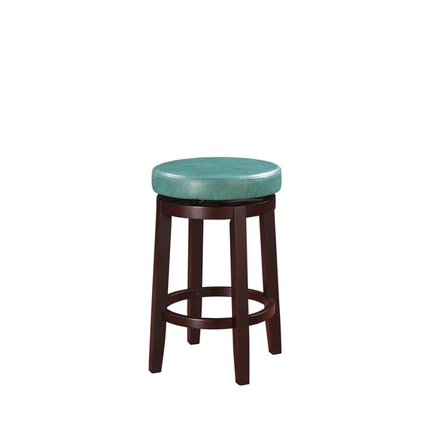 Oh! Home Dorothy Backless Counter Stool Aqua Blue Swivel