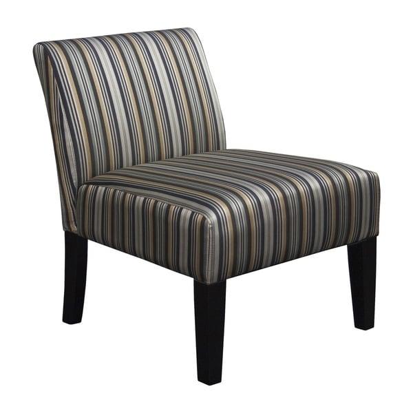Somette Armless Slipper Grey Stripe Chair 17123920