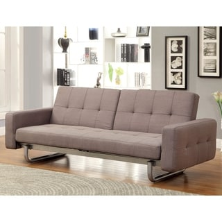Furniture Of America Charlie Charcoal Finish Sofa Bed