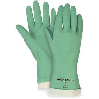 MCR Safety Nitri-Chem Flock Lined Nitrile Gloves