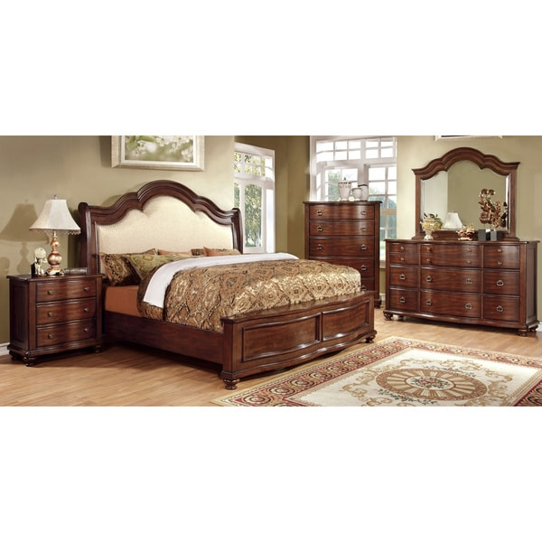Discount Bedroom Furniture Stores: Furniture Of America Ceres I Brown Cherry 4-piece Bedroom