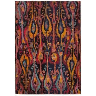 Safavieh Handmade Ikat Ivory Red Wool Rug 8 X 10