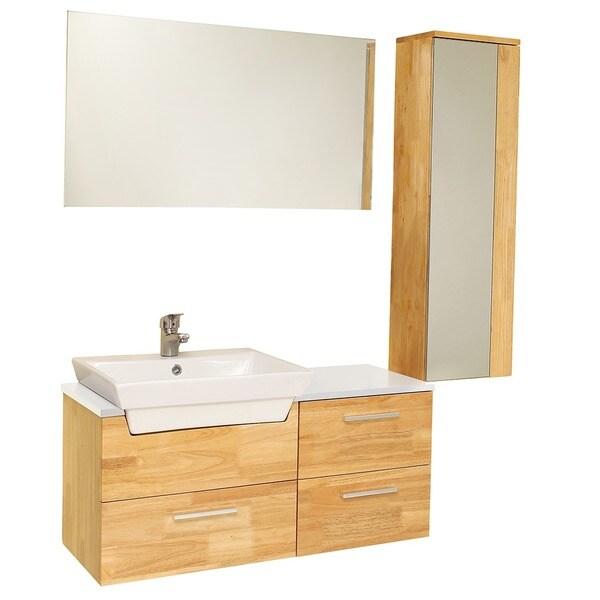 Fresca Caro Natural Wood Modern Bathroom Vanity With