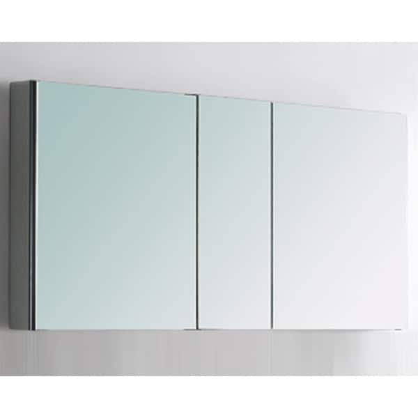 Fresca 50 Quot Wide Bathroom Medicine Cabinet W Mirrors