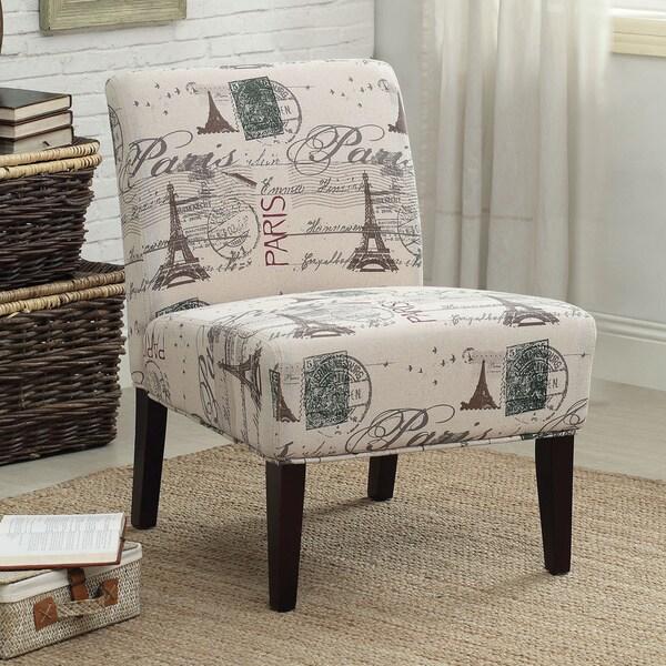 Reece Linen Script Accent Chair