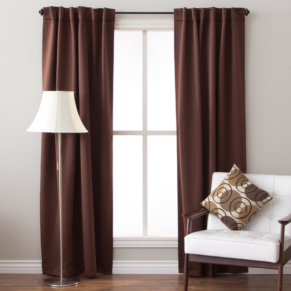 64 Inch Insulated Back Tab Blackout Curtain Panel Pair