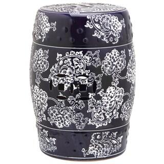 Hexagonal Red Kiwi Chinese Ceramic Stool 12023359