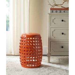 Kayden Indoor Outdoor Orange Metal Accent Table