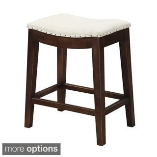 Sonata Square Leather Seat Backless Barstool 11457822