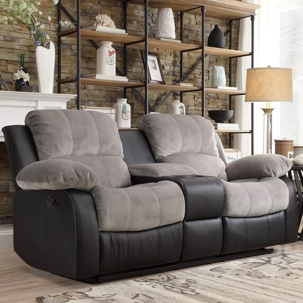Tribecca Home Coleford Two Tone Grey Black Tufted Double