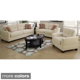 Prizren 3 Piece Living Room Set In Soft Bamboo Fiber