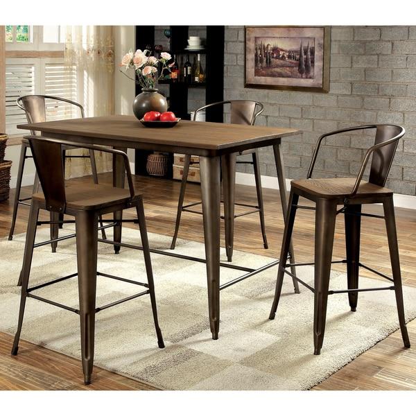Furniture Of America Tripton Industrial 5 Piece Counter