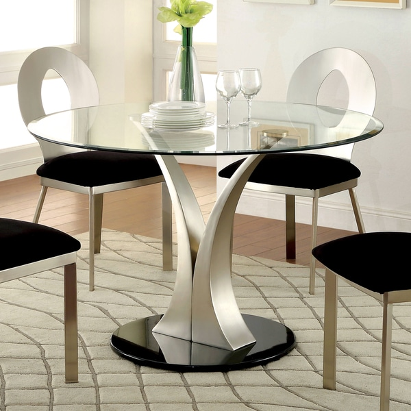 Furniture Of America Sculpture III Contemporary Glass Top