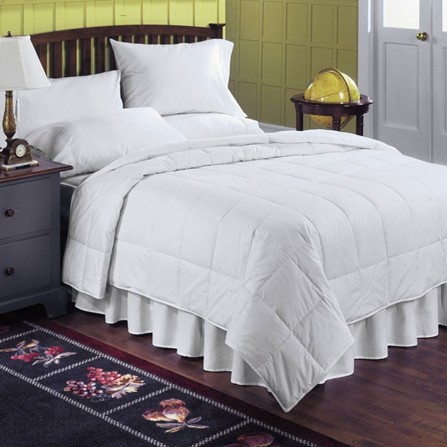 Cotton 230 Thread Count White Down All Season Lightweight
