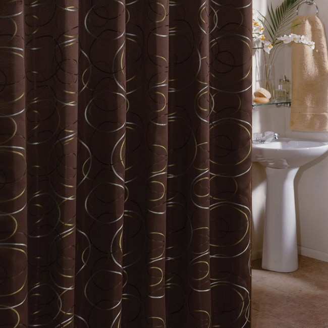 Edmon Chocolate 72 Inch Shower Curtain 13900702