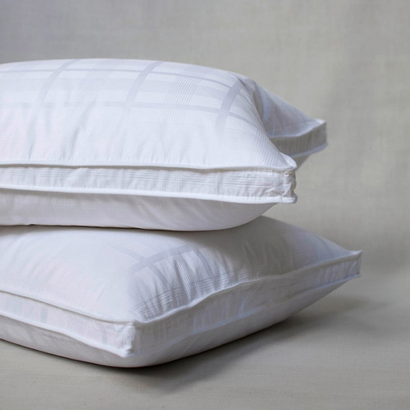 Extra Firm Goose Feather Standard Size Pillows Set Of 2