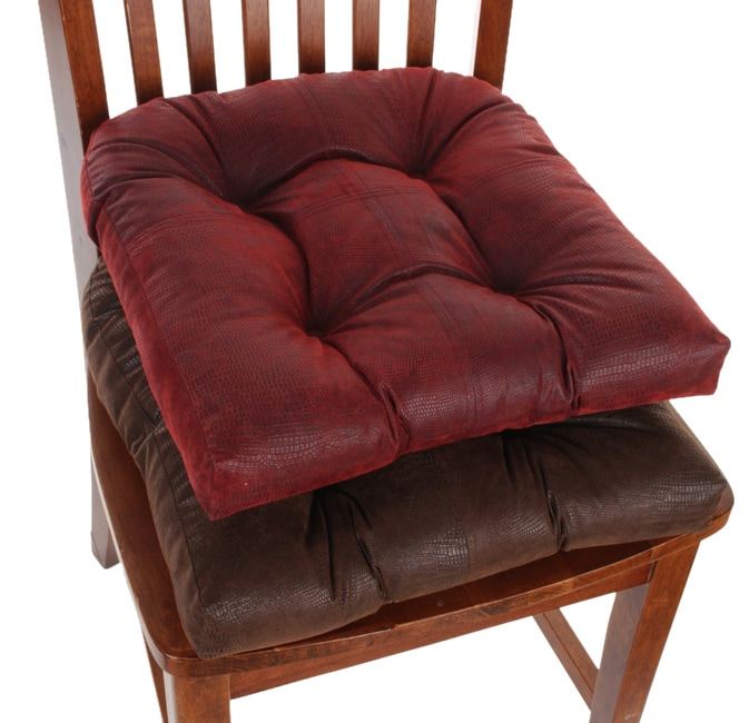 Faux Leather No-slip Chair Pads (Set Of Four)