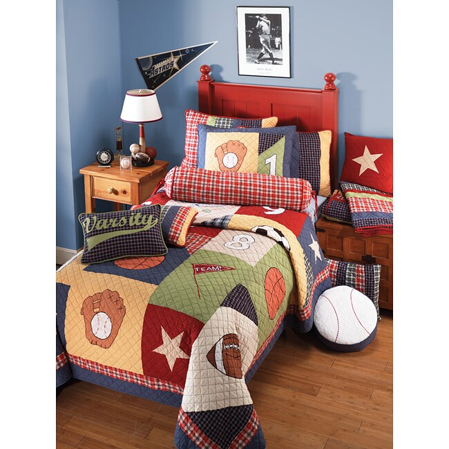 Sports Bedroom: All Sports Twin-size 2-piece Quilt Set