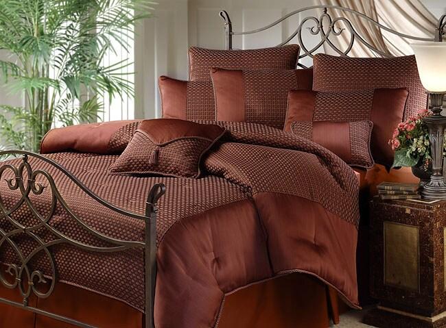 Avalon Dark Copper Comforter Set 10000247 Overstock