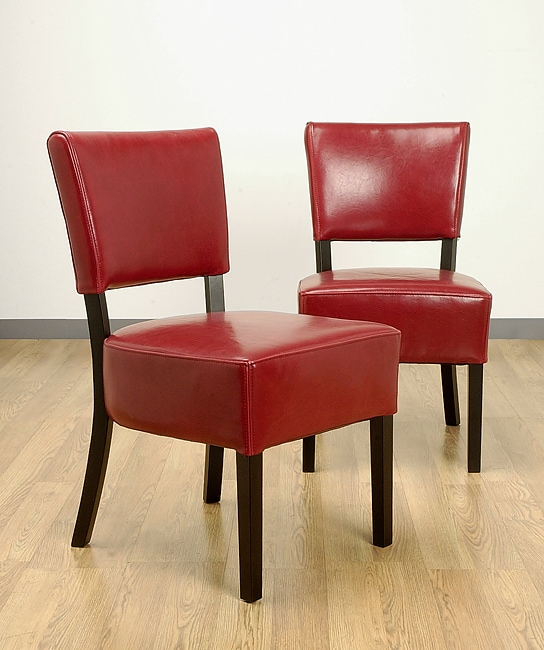 Red Leather Dining Room Chairs: Wasatch Red Leather Dining Chairs (Set Of Two )