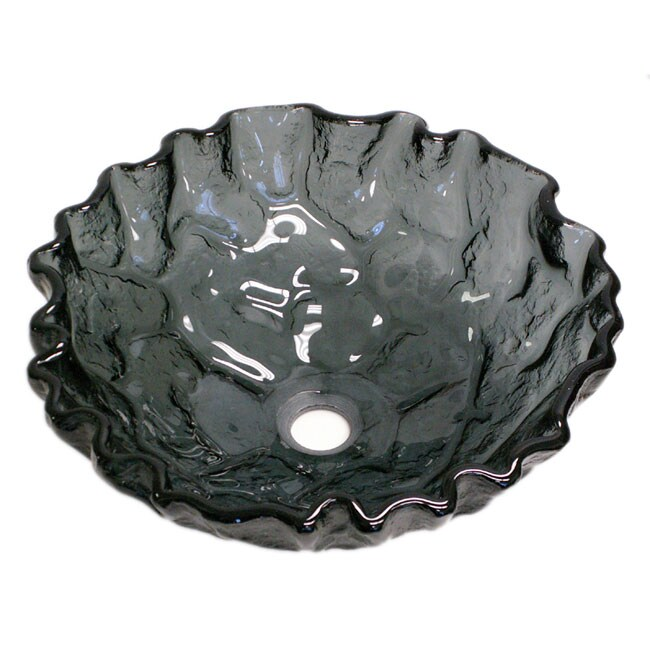 Fontaine Amethyst Glass Oyster Shell Vessel Sink
