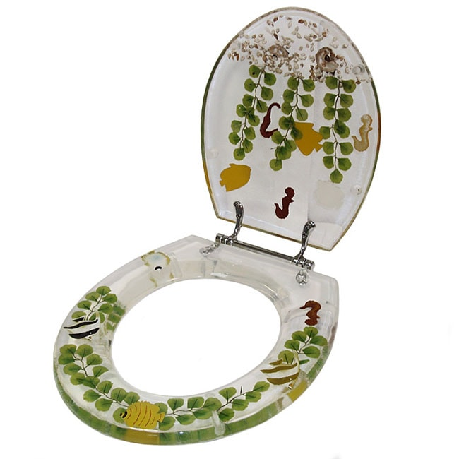Clear Acrylic Tropical Fish Toilet Seat: Clear Acrylic Tropical Fish Toilet Seat