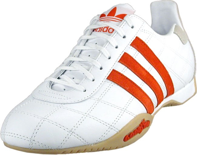 Adidas Women's White/Red Tuscany Leather Athletic Shoes ...