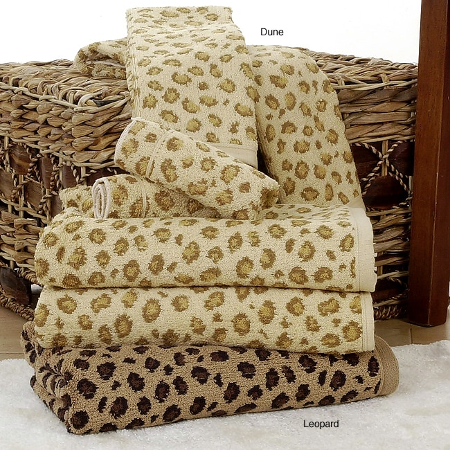 Leopard Print All Cotton 6 Piece Towel Set 10075673
