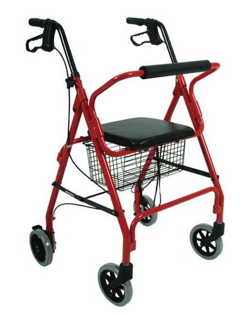 Lightweight Rolling Walker With Seat And Brakes 10088346