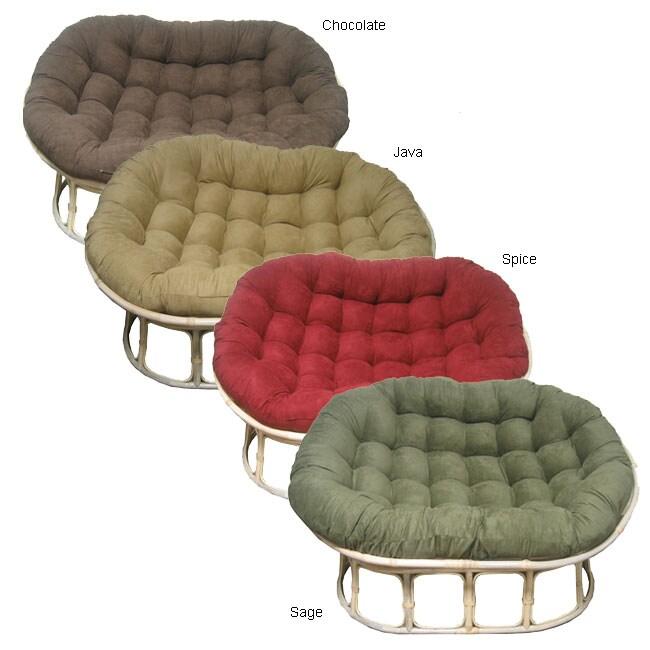Microsuede Cushion Double Papasan Chair 10221722