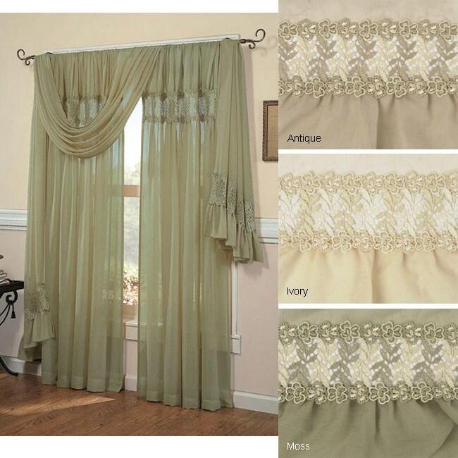 Scroll Macrame Window Curtain 6 Yard Scarf Valance