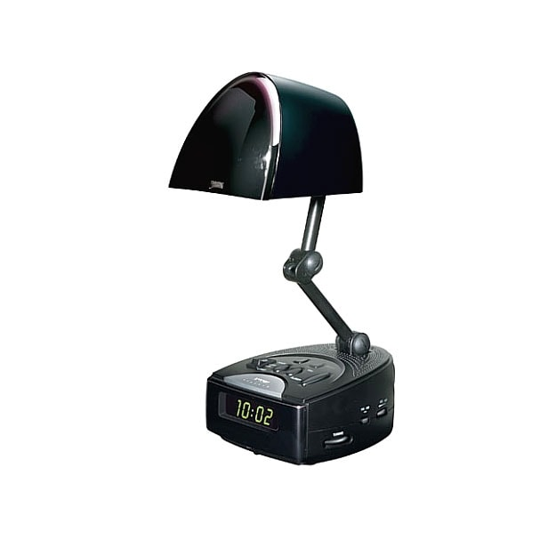 Am Fm Clock Radio And Table Lamp Combo Overstock