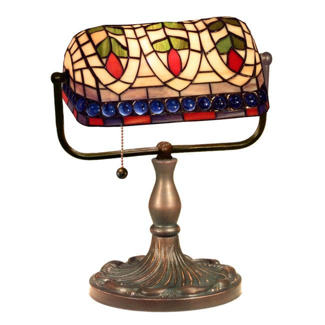 Tiffany Style Banker Blue Eyes Desk Lamp 10303555