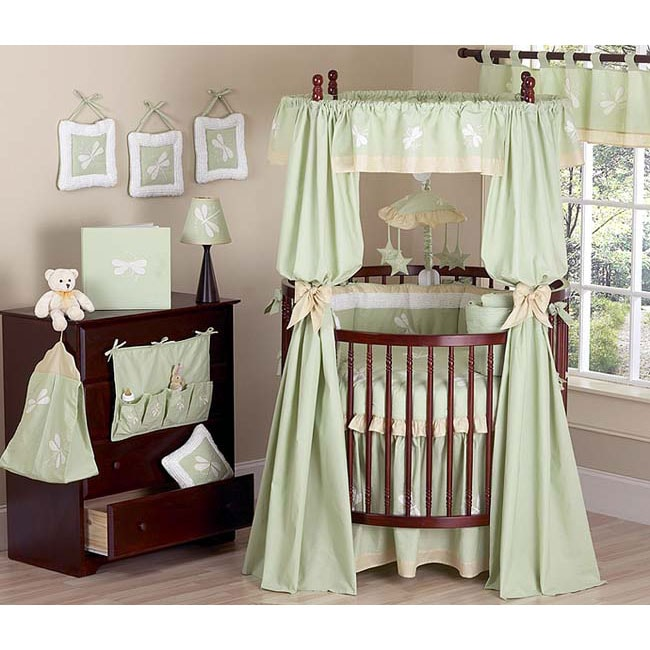 Dragonfly Dreams Round Crib 21 Piece Bedding Set