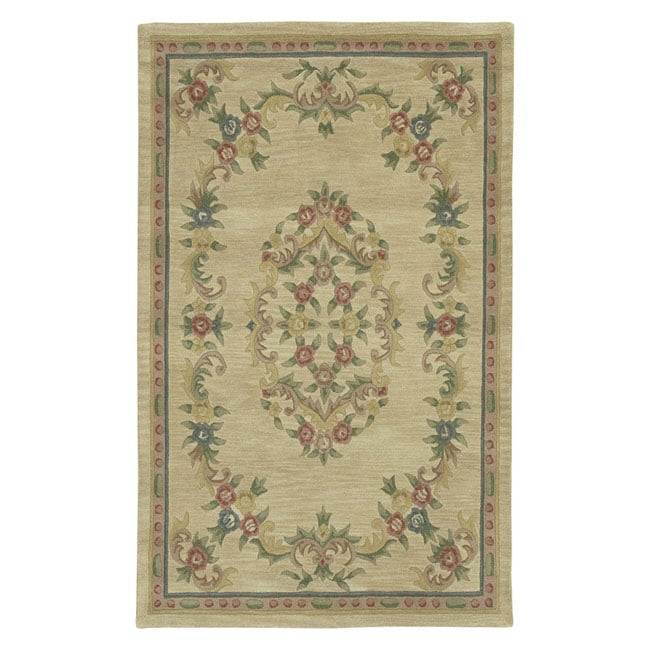 Aubusson Hand-tufted Wool Rug (5x7)